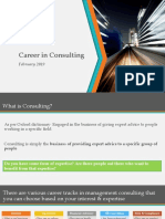 Career in Consulting