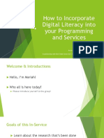 digital literacy in-service