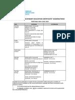 Timetable CSEC May June 2020 Final Feb 2019
