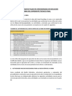 Informe Tecnico Plazo Obra Huachipa