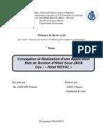 Conception et Réalisation d'une Application Web de Gestion d'Hôtel Sous JAVA Cas  « Hôtel ROYAL ».pdf