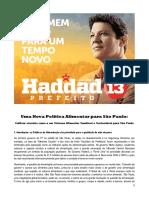 Uma nova política alimentar para São Paulo