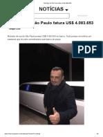 Mendigo de São Paulo fatura US$ 4.083.653