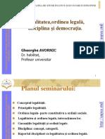 Tema 19 Legalitatea, Ordinea Legala, Disciplina Si Democratia