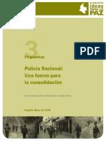 POLICIA NACIONAL UAN FUERZA EN CONSOLIDACIÓN