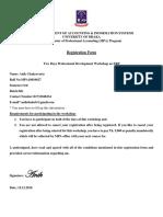 PDW Registration Form 2