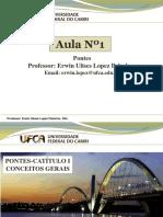 Aula Nº1 Pontes - Conceitos Gerais - Prof. Erwin Lopez P.