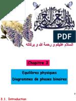 Chapitre 3 Equilibres Physiques Diagrammes de Phases Binaires 02 Avril 2018 3ème Génie Des Procédés