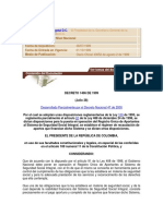 Decreto 1406 de 1999 Base de Cotizacion