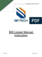 BIS Locker Manual Instruction