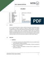 Syllabus Introducción a La Filosofía 2018-II Fdcp