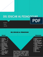 del educar al pedagogiar