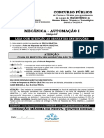 Prova IFSP mecânica 2014.