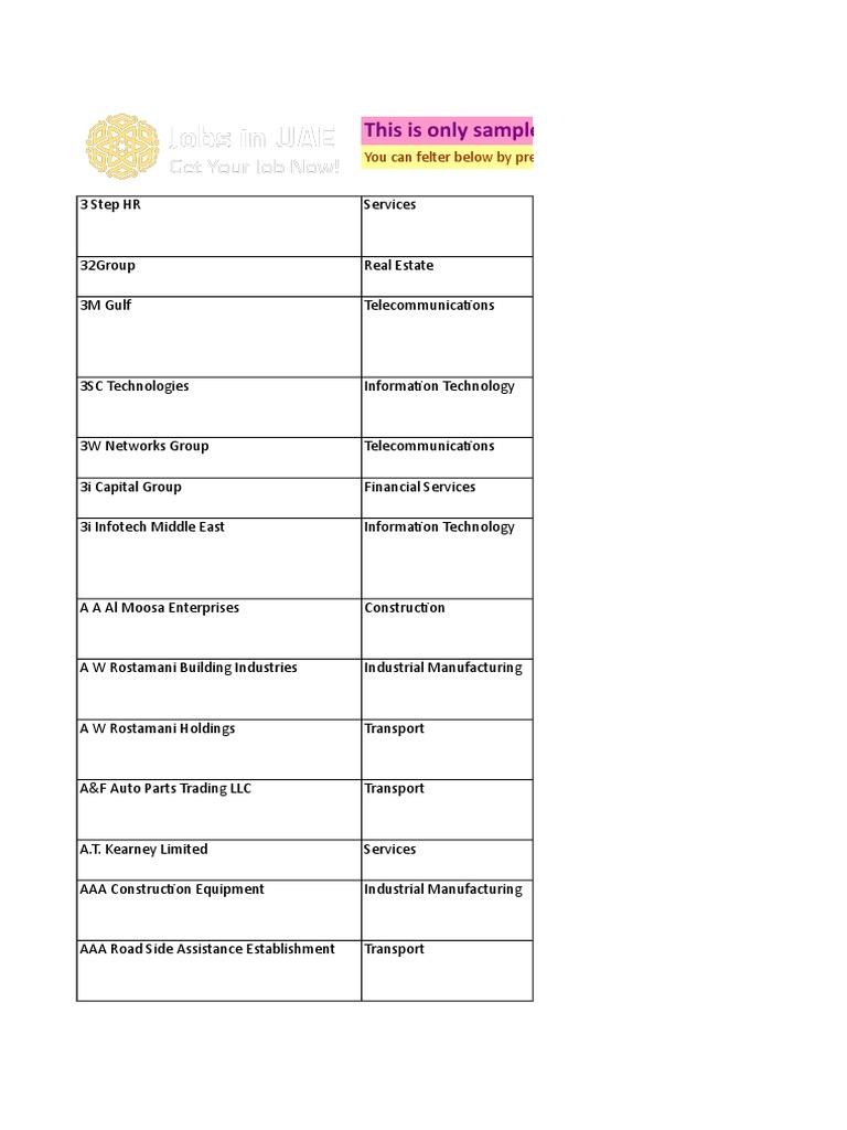 Cv Distribution Service Dubai Uae Top Companies List Freezone