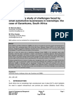 An exploratory study of challenges faced by small automotive businesses in townships