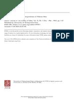 Extradeical and Intradeical Interpretations of Platonic Ideas-Wolfson