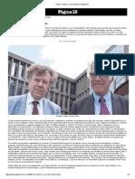 Roger Chartier y Carlo Ginzburg _ Página12