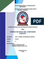 Codigo de Etica Del Contador Publico II - Istepsa