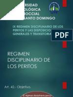 REGIMEN DISCIPLINARIO DE LOS PERITOS