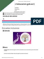 Escuelas Inclusivas – Ministerio de Educación