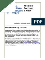 Miscible Polymer Blends