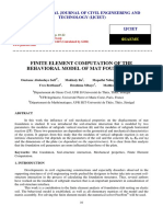 Finite Element Computation of the Behavioral Model of Mat Foundation