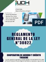 Reglamento General de La Ley n30822