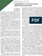 Edgard Romero Nava PDVSA Debe Equilibrar Sus Inversiones Con La Internacionalizacion - El Siglo 27.06.1987