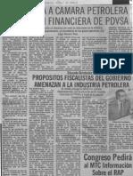 Edgard Romero Nava Preocupa a camara petrolera situacion financiera de pdvsa - El Carabobeño 08.04.1987