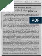 Edgard Romero Nava Una Dificil Situacion Esta Atravesando PDVSA - El Informador 08.04.1987 (2)
