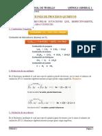 UNIDAD 3 TEMA 3 Ecuaciones de Procesos Quimicos