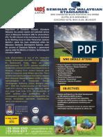 180418_Brochure_Seminar on Malaysian Standard