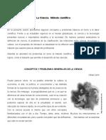 Lectura N° 6. Ciencia - Método Científico