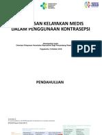 Penapisan Kelayakan Medis Penggunaan Kontrasepsi