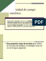 Intensidad de Campo Electrico