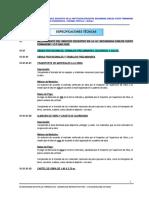 Especificaciones Técnicas I.E.