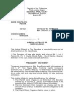 PRINCESS SANTOS Judicial Affidavit
