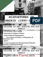 Jose Rizal's Misfortunes in Madrid