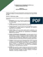REGLAMENTO OPERATIVO DEL PROGRAMA DE APOYO A LA INTERNACIONALIZACION