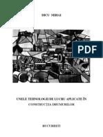 DICU MIHAI - Unele Tehnologii de Lucru Aplicate in Constructia Drum