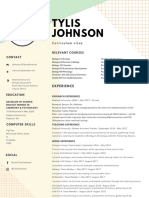 pastel green and yellow interior designer modern resume  1