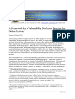 A Framework for a Vulnerability Disclosure Program for Online Systems