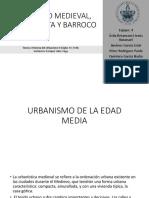 Urbanismo Medieval Renacentista y Barroco