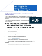 Design Economical Foundations and Prevent Construction Issues