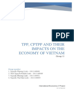 TPP, CPTPP and their impacts on the economy of Vietnam