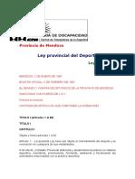 Ley Provincial Mendoza No 6457