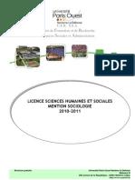 Livret Licence Sociologie 2010-2011 200710
