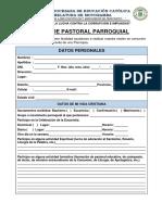 Ficha de Pastoral Parroquial