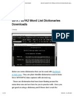 WPA/WPA2 Wordlist Dictionaries