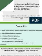 Presentación conflictividad ambiental por monocultivos de palma aceitera Tibú-Norte de Santander 4 encuentro Zonas Reserva Campesina 2014